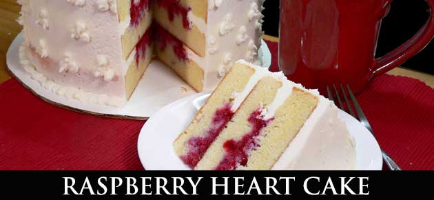 Raspberry Heart Cake, slider.