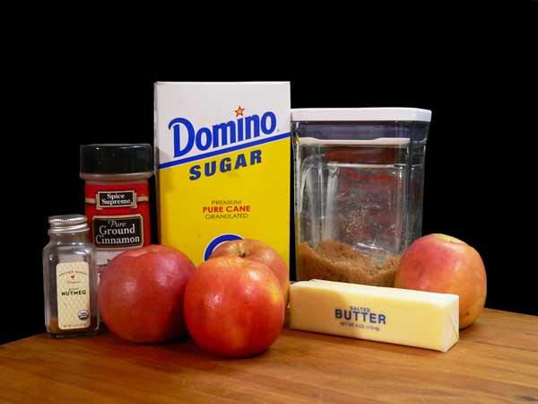 Fried Apples, ingredients
