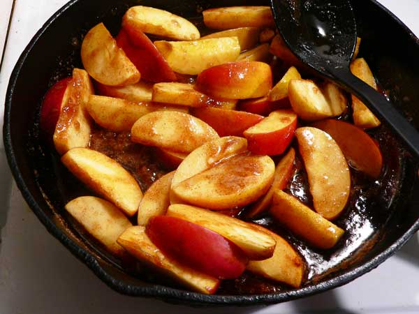 Fried Apples, add to skillet.