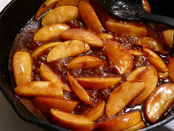 Fried Apples, cook until tender.
