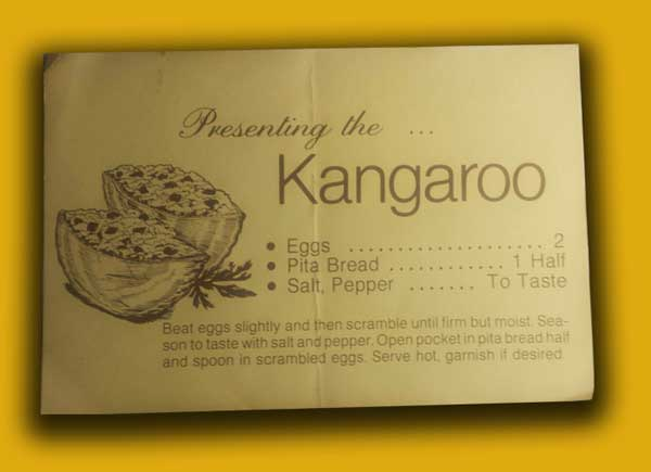 Kangaroo pockets, card.