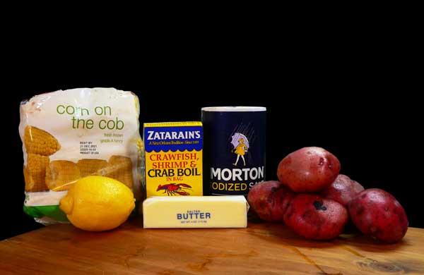 Crawfish Boil, ingredients you'll need.