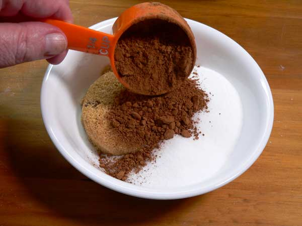 Chocolate Cobbler, add cocoa powder.