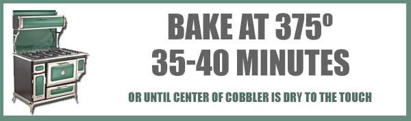 Chocolate Cobbler, bake the cobbler.