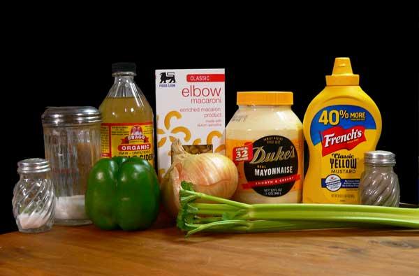 Macaroni Salad, ingredients you'll need.