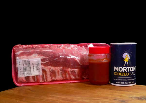 Baby Back Ribs, ingredients.