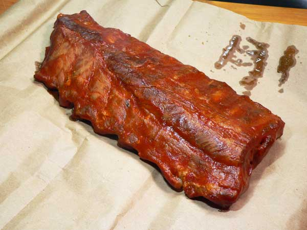 Baby Back Ribs, ready to serve.