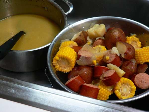 Cajun Sausage Boil, drain.