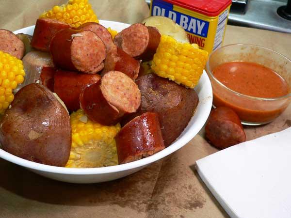 Cajun Sausage Boil, enjoy.