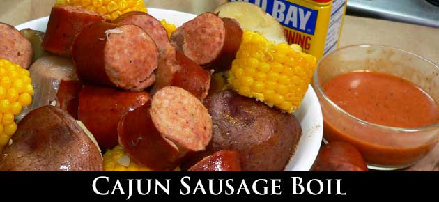 Cajun Sausage Boil, slider