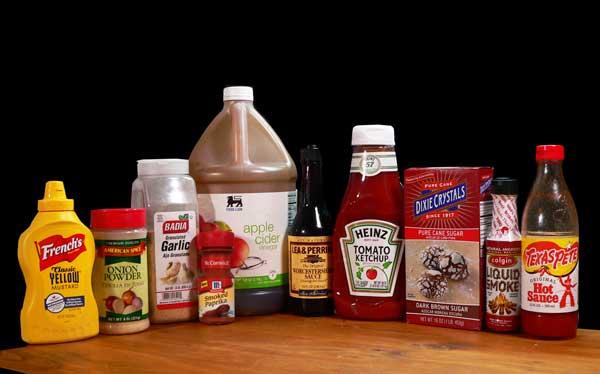 Gordons BBQ Sauce ingredients.