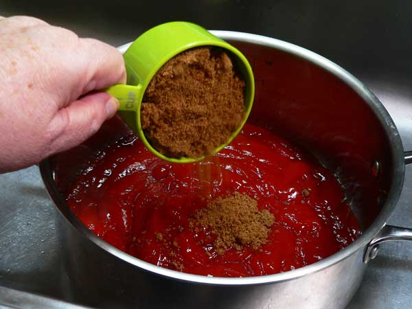 Dark BBQ Sauce, add the brown sugar.