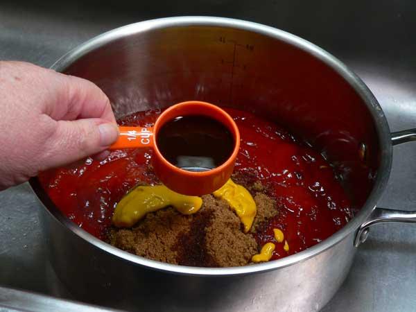 Dark BBQ Sauce, add worcestershire sauce