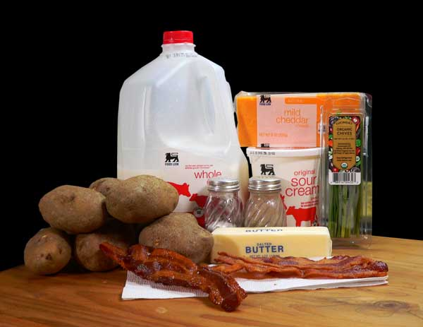 Loaded Potato Casserole, ingredients you'll need.