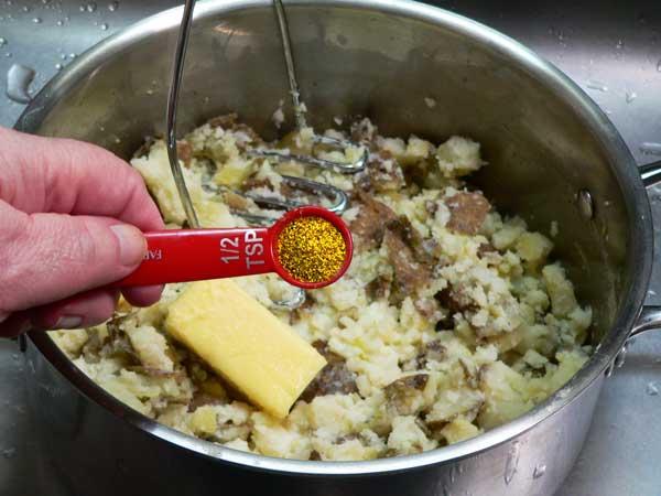 Loaded Potato Casserole, add garlic powder.