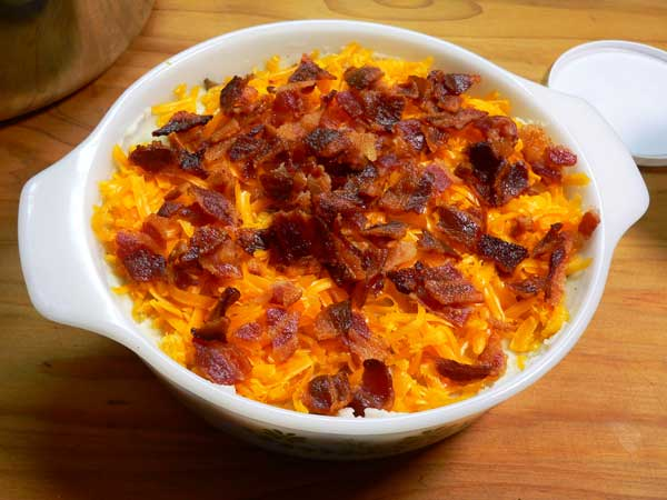 Loaded Potato Casserole, add bacon.