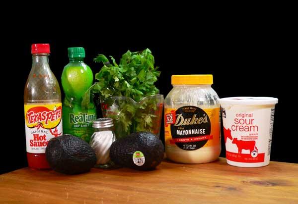 Avocado Dip, ingredients