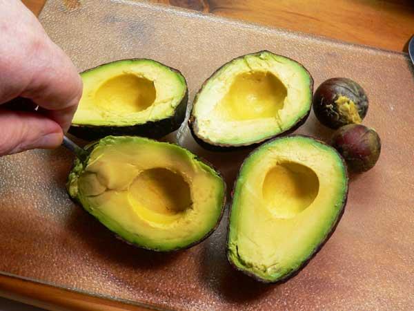 Avocado Dip, prepare the avocado.