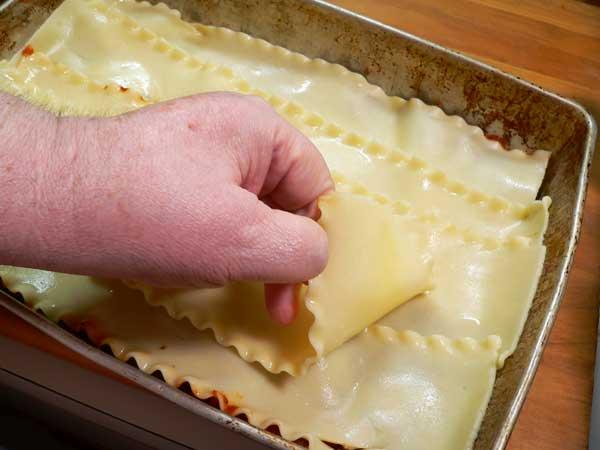 Lasagna, add a layer of noodles.