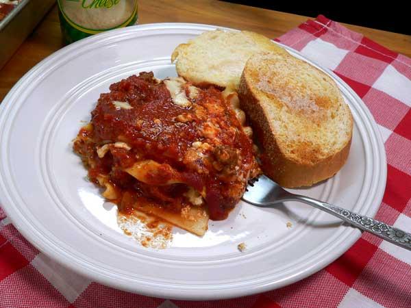 Lasagna, enjoy.