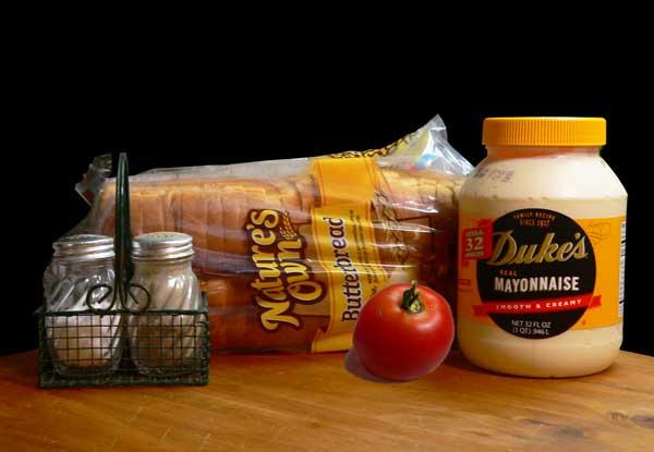 Tomato Sandwich, ingredients.