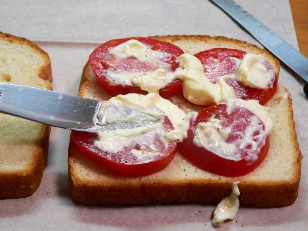 Tomato Sandwich, add the mayo.