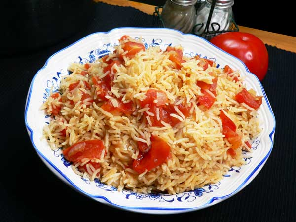 Tomatoes and Rice, enjoy.