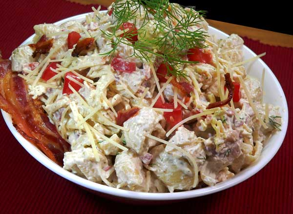 Bacon Ranch Pasta Salad, enjoy.