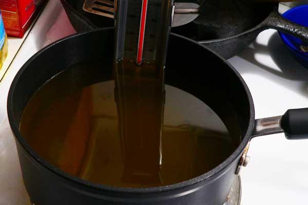 Hushpuppies, add oil.