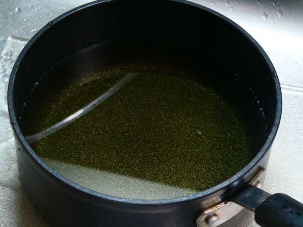 Pickled Okra, add water.