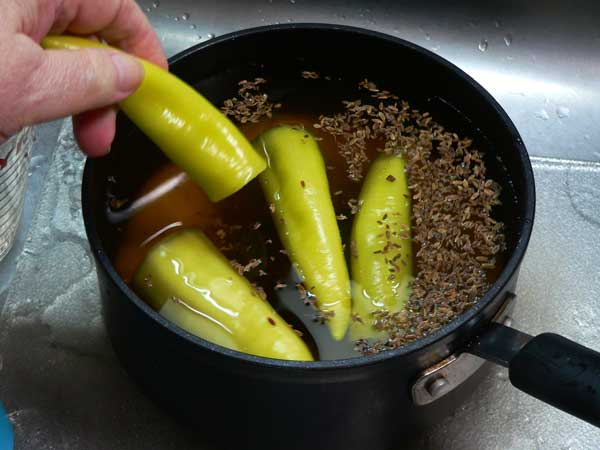 Pickled Okra, add peppers.