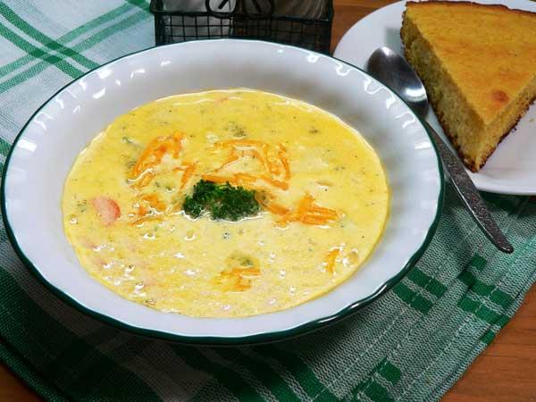 Broccoli Cheddar Soup, enjoy.