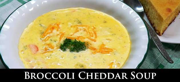 Broccoli Cheddar Soup, slider.