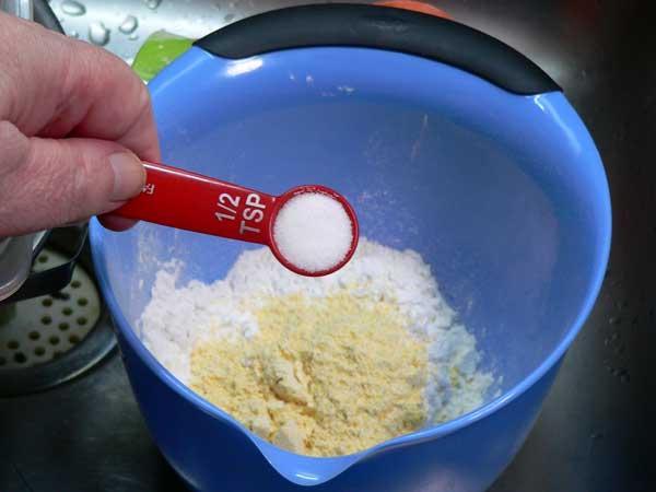Calabash Fried Oysters, add salt.