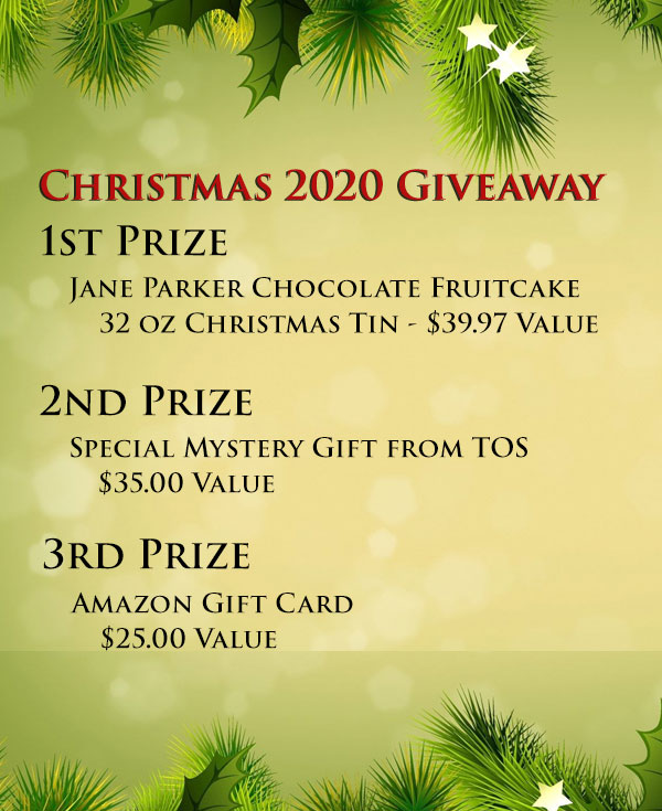 Jane Parker Chocolate Fruitcake, giveaway.