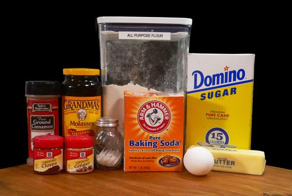 Gingersnap Cookies, ingredients.