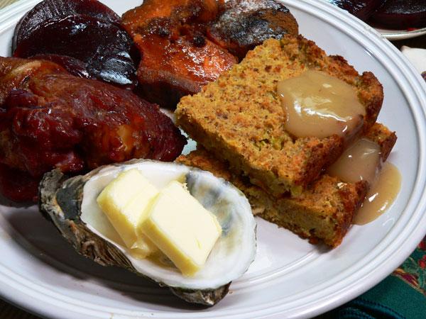 Oyster Dressing, enjoy.