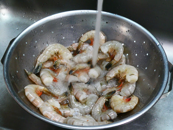 Skillet Shrimp, rinse.