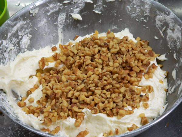 Carrot Cake, add the nuts.