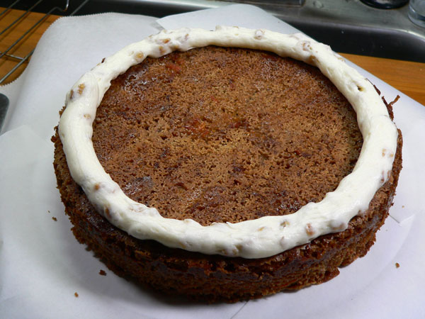 Carrot Cake, first layer.