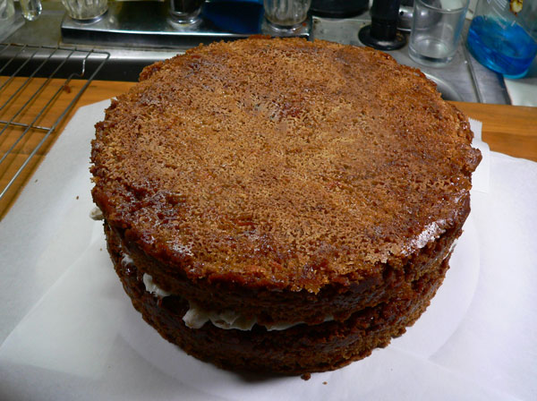 Carrot Cake, add the second layer.