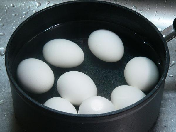 Egg Salad, boil the eggs.