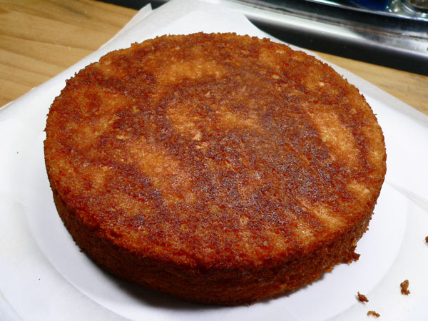 Lemon-Lime Soda Cake, first layer.