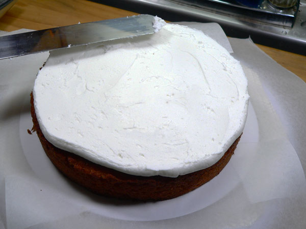 Lemon-Lime Soda Cake, add frosting.
