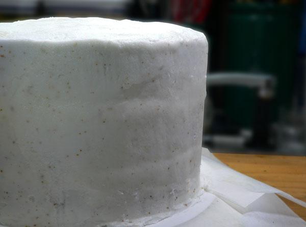 Lemon-Lime Soda Cake, frost the sides.