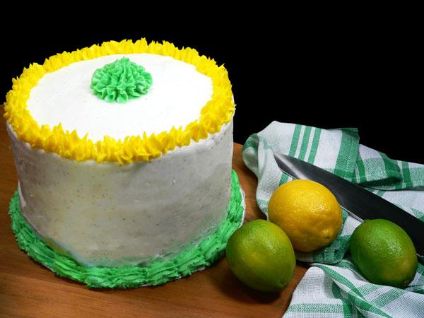 Lemon-Lime Soda Cake, decorate.