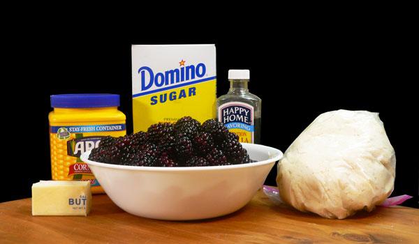 Blackberry Cobbler, ingredients.
