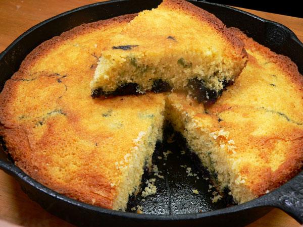 Blueberry Cornmeal Cake, enjoy.