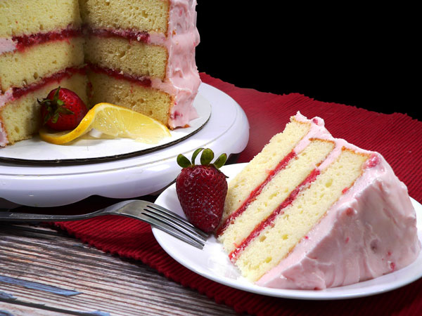 Strawberry Lemonade Cake, enjoy.