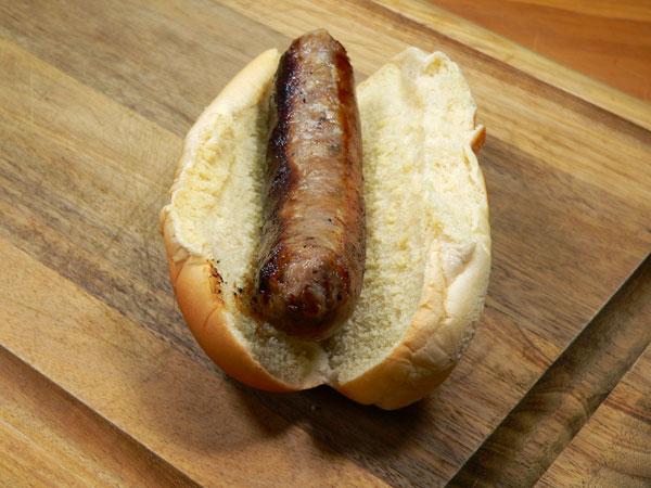 Sausage Dogs, place sausage on a bun.